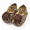 Spring Flowers Leopard Infant Shoes Soft Bottom Baby Toddler Shoes Kids Girls