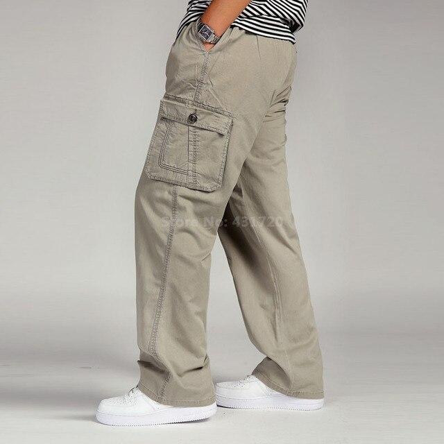 Los hombres De Carga Pantalones de Hombre En General Floja Verano ... 02b8fc4a308c