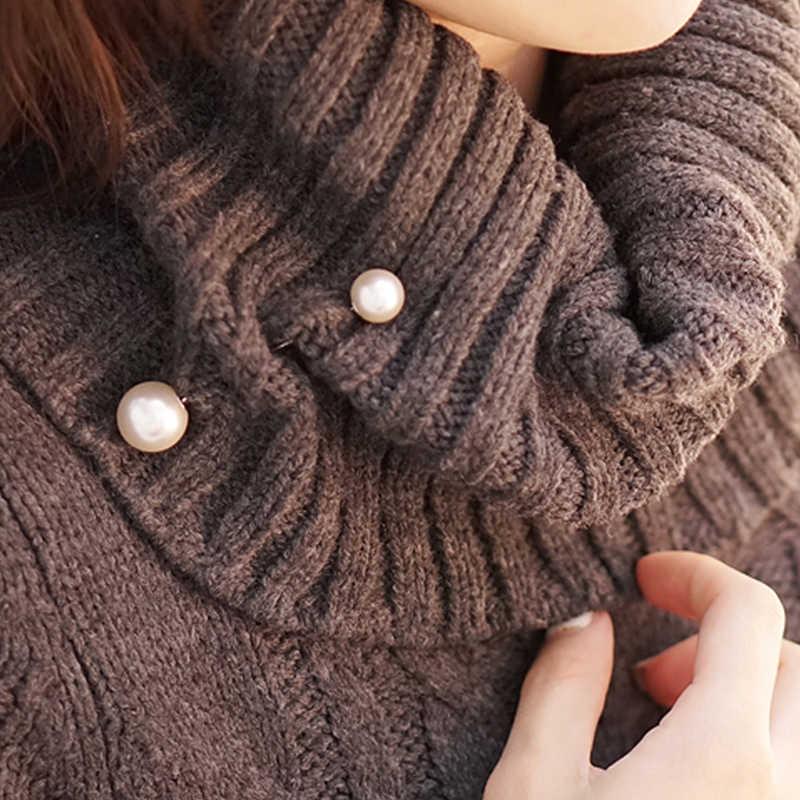 1 szt. Proste podkreślające temperament imitacja podwójna perła urok klasyczny wysokiej jakości broszka biżuteria nadaje się dla mężczyzn i kobiet broszka do garnituru hurtowo