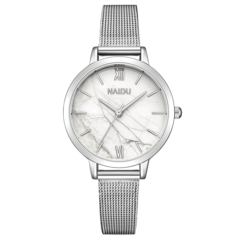 Fashion Stainless Steel Quartz Watch Women Luxury Brand Lady Dress Wrist