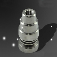 10pc Hot Selling Adjustable Pure Domeless Titanium Nail Ti Nail 14mm/18mm Smoke Cigarette Pipe
