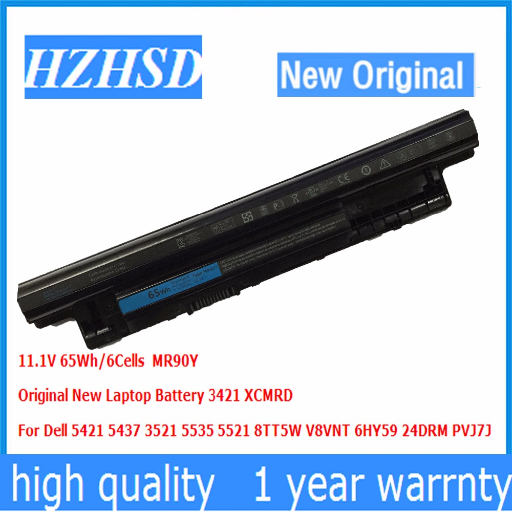 все цены на 11.1V 65Wh/6Cells New Original MR90Y Laptop Battery 3421 XCMRD For Dell 5421 5437 3521 5535 5521 8TT5W V8VNT 6HY59 24DRM PVJ7J онлайн