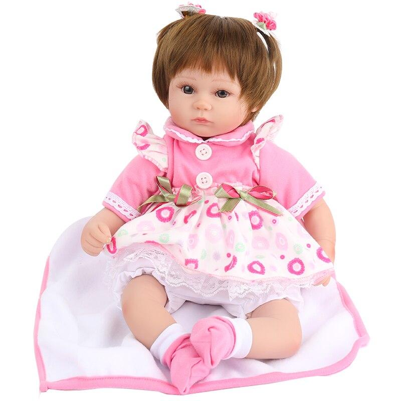 NPK Кукла реборн кид игрушки для девочек бжд пупсы реборн девочка матрешка детские игрушки силиконовые винил подарок день рождения праздник ...