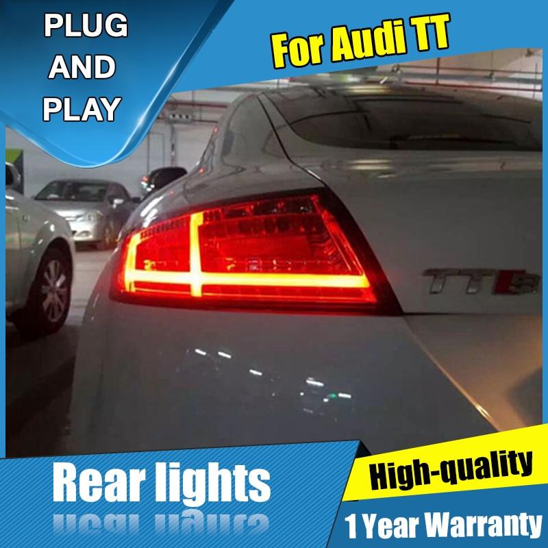 2PCS Car Styling for Audi TT Taillights 2006 2013 for TT Streamer steering LED Tail Lamp+Turn Signal+Brake+Reverse LED light