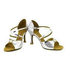 YOVE Dance Shoes Women's Latin/ Salsa Dance Shoes 3.5″ Flare High Heel More Color w1610-30