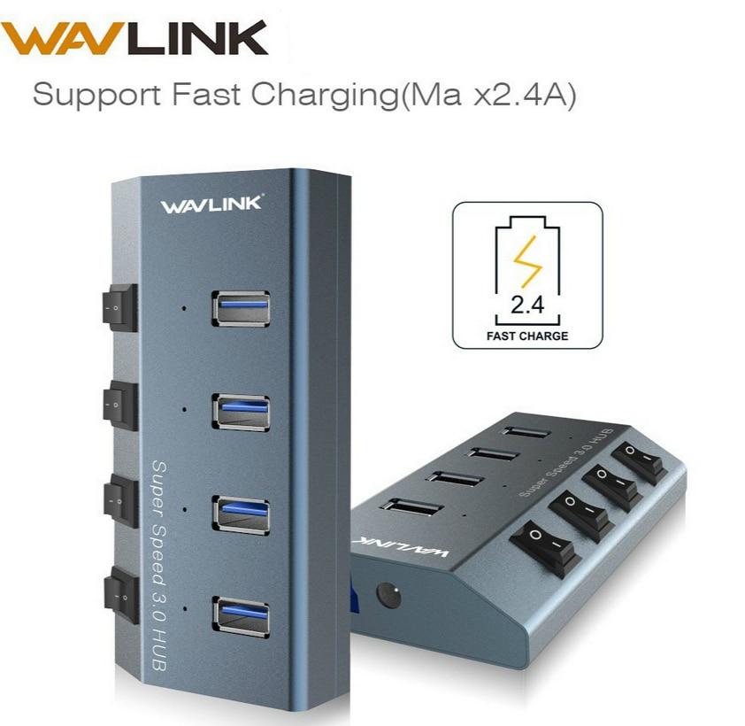 Wavlink Aluminijski 4-Port 3 USB 3.0 Hub +1 Brzo punjenje USB hub s - Računalna periferija
