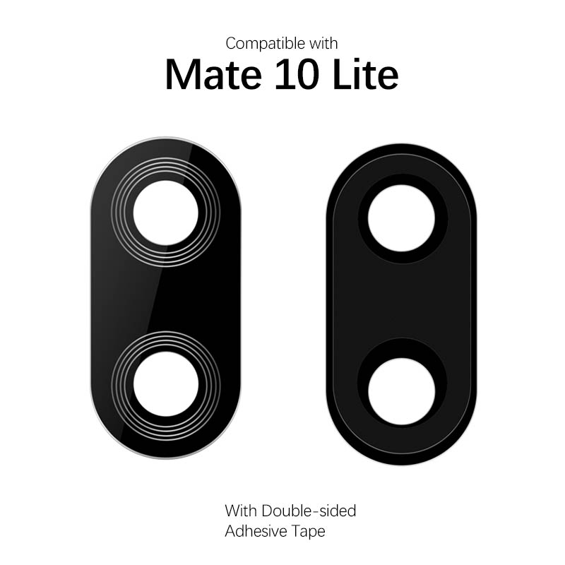Back Camera Lens For Huawei Mate 10 Lite Camera Glass Lens With Adhesive Replacement Parts