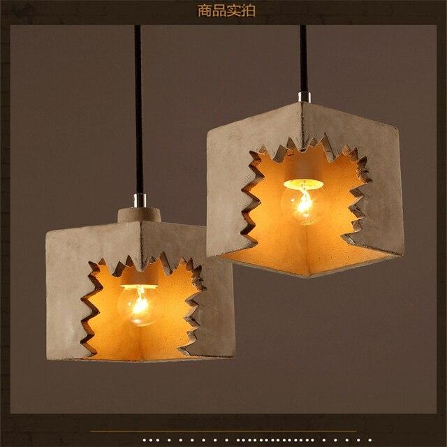 Retro Kreative Vertraglich Anhänger Lampe Designer Zement ...