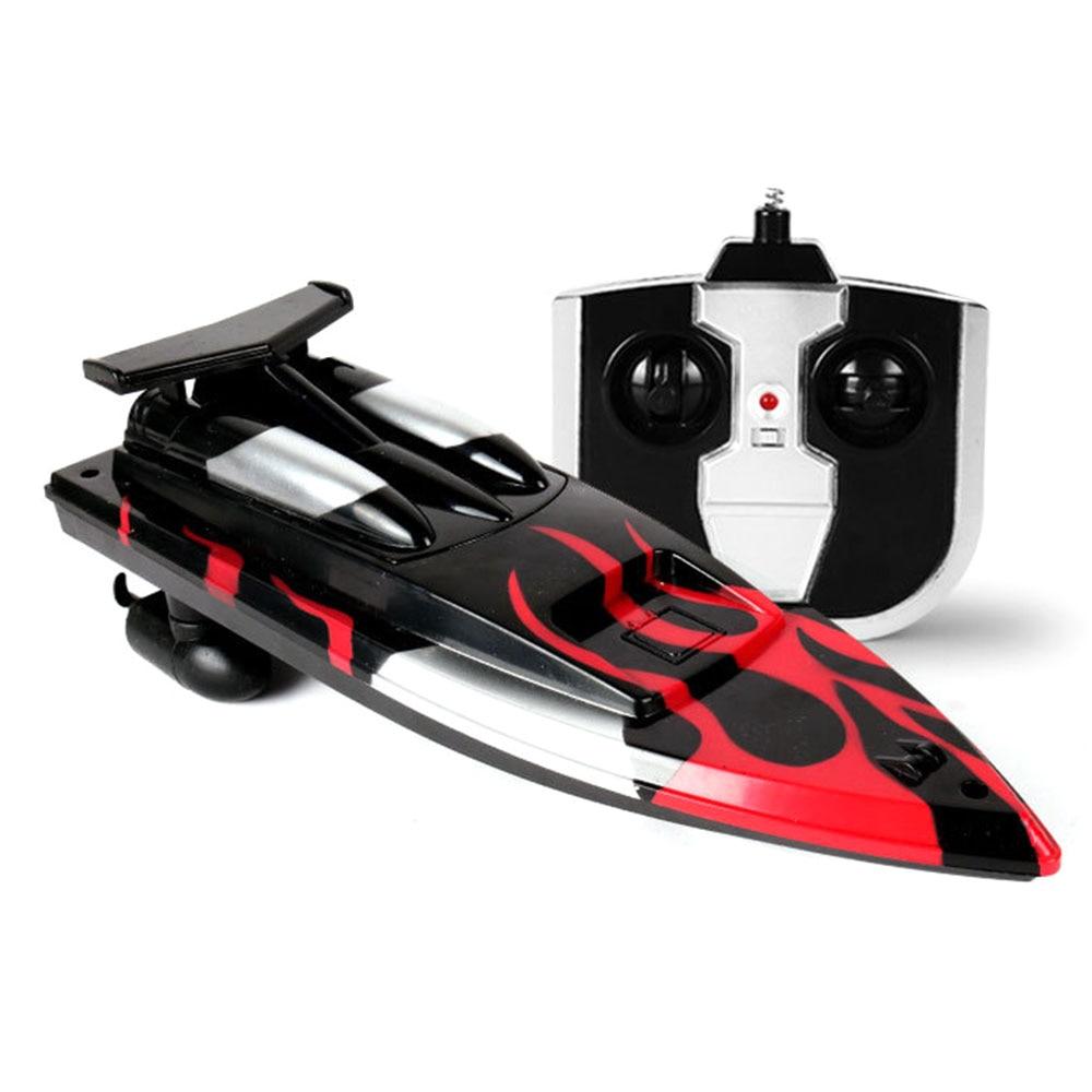 Скоростная лодка гоночная лодка на дистанционном управлении лодка пластиковая многоцветная Rc речная бассейн на открытом воздухе модная скоростной катер р/у гоночная игрушка - Цвет: black