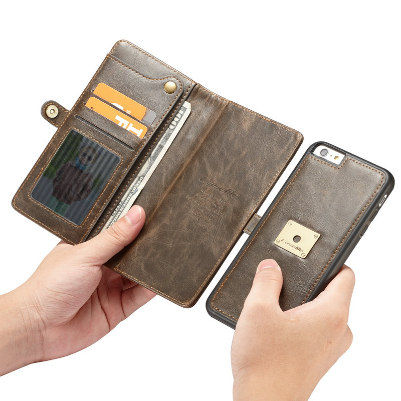 CaseMe Retro Detachable Phone Case For iphone 6 6s 2 in 1 Caed Pocket Magnetic Flip Wallet Case For iphone 6plus