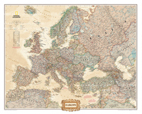 Vintage Canvas Map Of Europe Wall Hanging Frameless Paintings Maps For Living Room Study Room Office