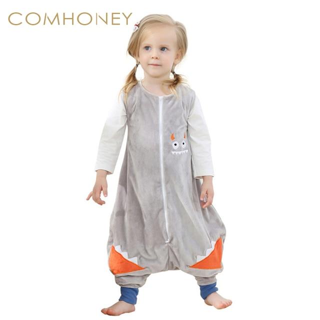 Baby Sleeping Bag Blanket Sleeper 1-6T Autumn Winter Children Jumpsuit  Flannel Funny Animal Owl Kid Pajamas One Piece Quilt f425d868b