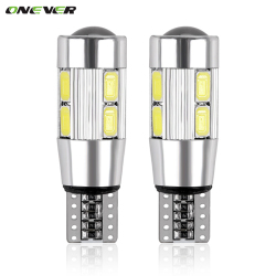 2PCS Car Styling Car Auto LED T10 Canbus 194 W5W 10 SMD 5630 LED Light Bulb No Error LED Light Parking T10 LED Car Side Light