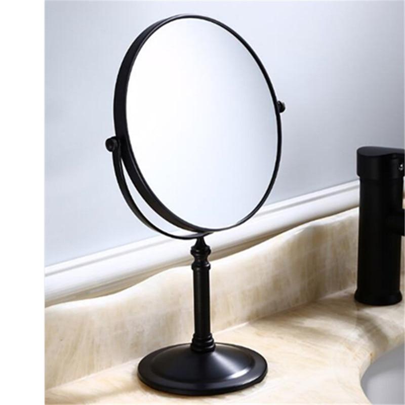 LIUYUE, зеркало для макияжа, медное, черное, стиль, 8 дюймов, зеркало для макияжа, профессиональное туалетное зеркало, 360 градусов, для ванной комнаты, Лупа
