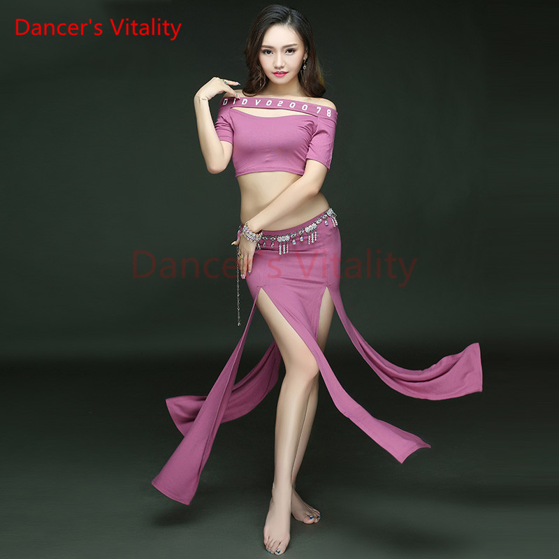 Dancers Vitality New Arrival Bellydance Costumes One Word Collar Open The Skirt Belly Dance Dress For Oriental Dance Costumes