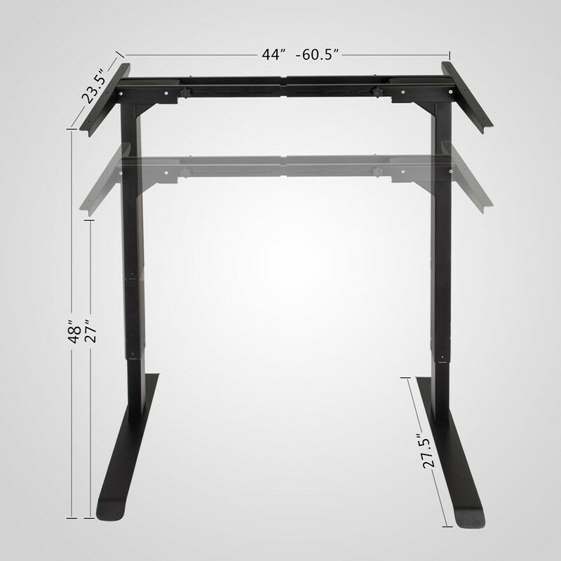 NEW Electric Height Adjustable Standing Desk Frame Dual Motor And Memory Control Large  Commercial