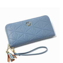 New ladies long wallet fashion large capacity zipper wallet Korean version of the geometric pattern clutch bag quality assurance