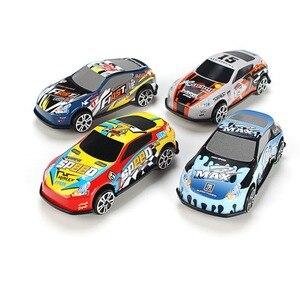 Image 1 - Ensemble de Mini voiture de dessin animé, 6 pièces/ensemble, voitures en alliage, véhicules, jouets de poche pour enfants, modèle pour chambre denfant, cadeau