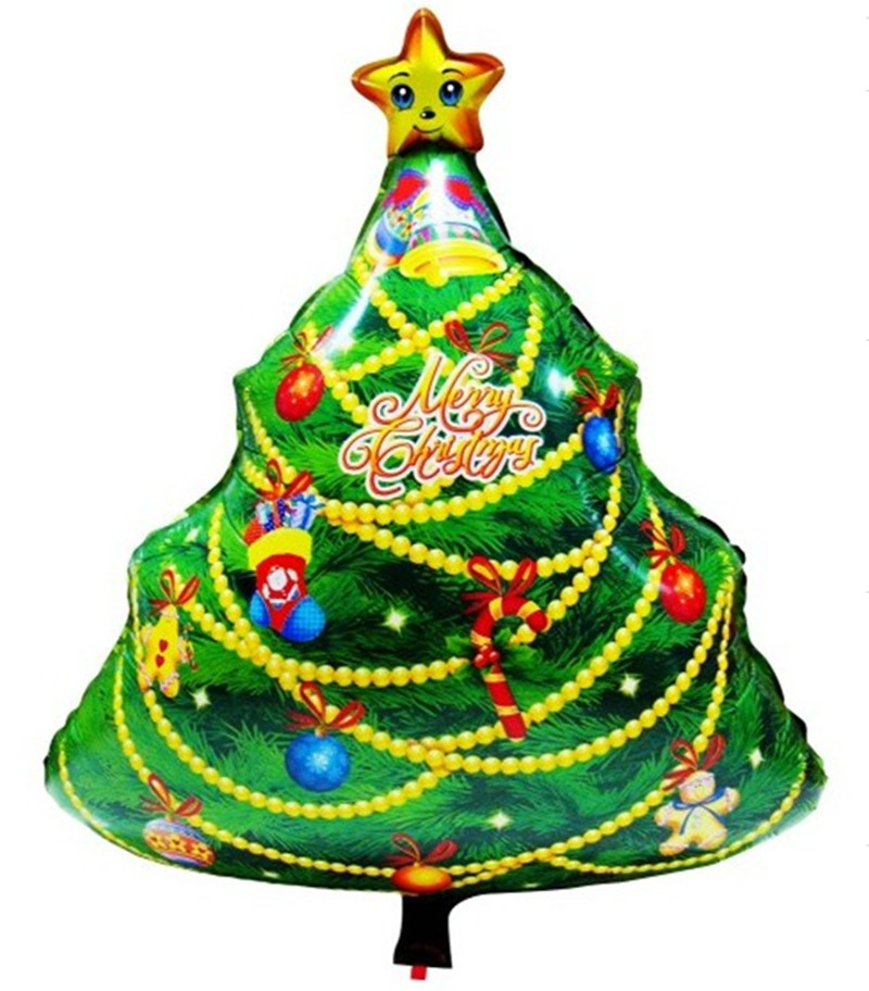 Large size christmas tree foil balloons merry christmas Large decorated christmas trees