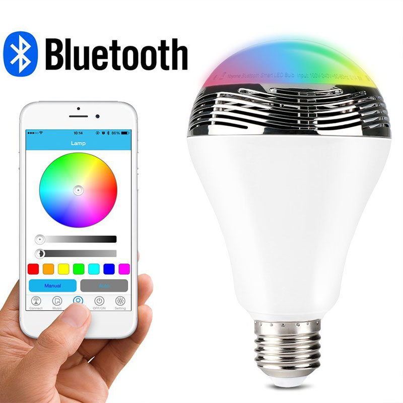 Smart LED Bulb Light Wireless Bluetooth Speaker 110V - 240V E27 5W Lamp Audio for Android ISO iPhone iPad