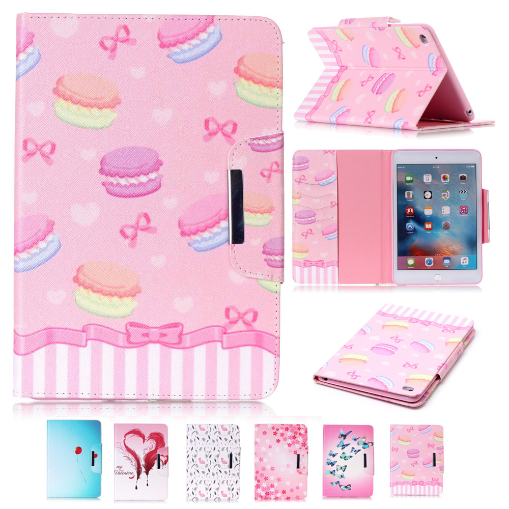 New Girl Design Folio Book PU Leather Case for iPad Air 2  Magnetic Closure Tablet Case Cover For Apple iPad air 2 iPad 6 Fundas new smooth book cover card holder folio