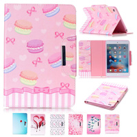 New Girl Design Folio Book PU Leather Case For IPad Air 2 Magnetic Closure Tablet Case