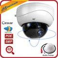5MP POE 2,5 ''4X зум HD 1080P 2MP PTZ IP ИК купольный аудио микрофон Камера Безопасности ИК Ночное Видение