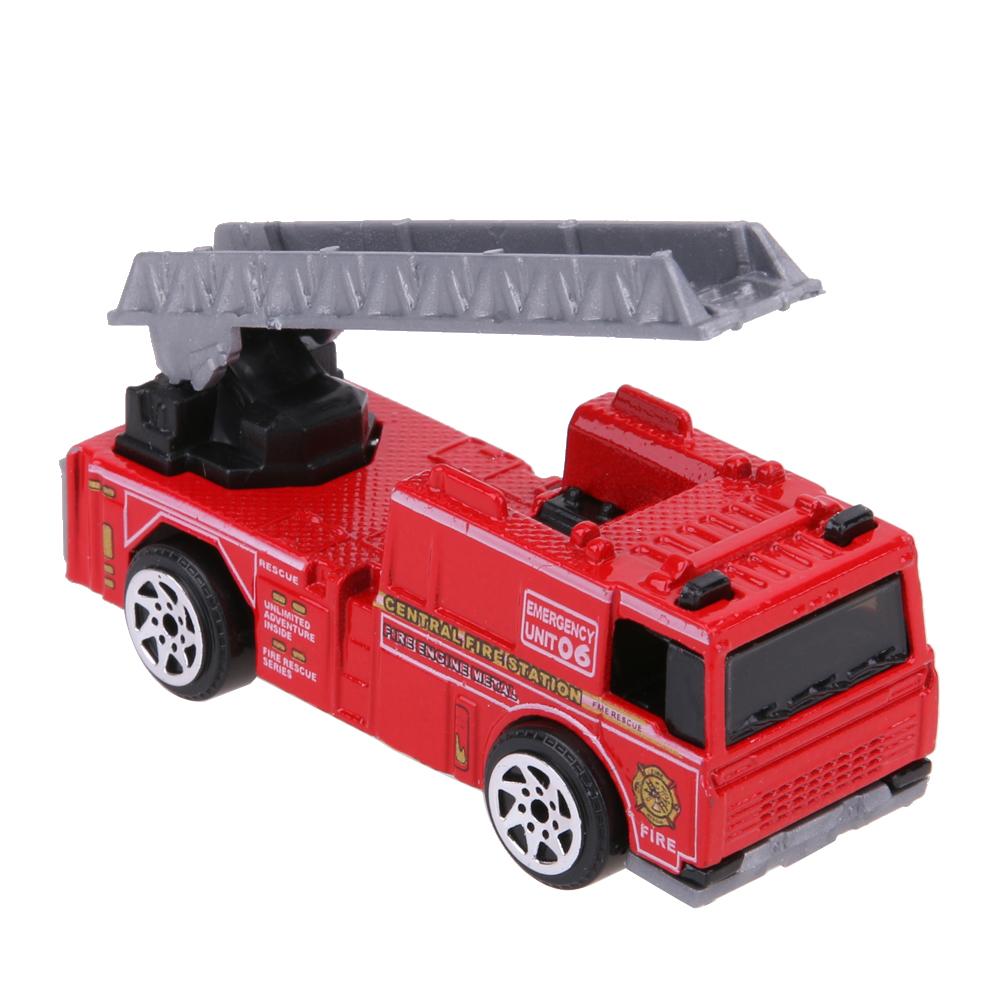 5pcs 1:64 Scale Alloy Fire Fighting Truck Models Kids Child Car Toy Set Kids Gifts