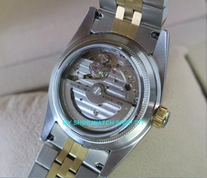 Image 3 - 2017 新ファッションサファイアクリスタル 36 ミリメートルパーニス日本 21 jeweles 自動自己風運動発光メンズ腕時計 5Bar 9A