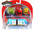 100% Original trenes Chuggington trenes Hoot y Toot Diecast Escala Modelo de juguete tomy con caja de Regalo de embalaje