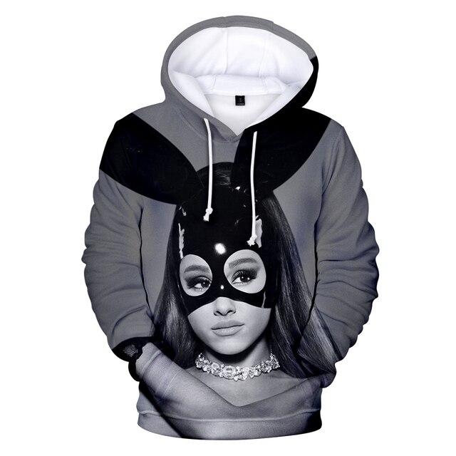 c37ac75a256 Ariana Grande 3D printing Hooded Women Clothes Harajuku Hip Hop Casual Hot  Sale Tops Hoodies Sweatshirts Print Plus Size