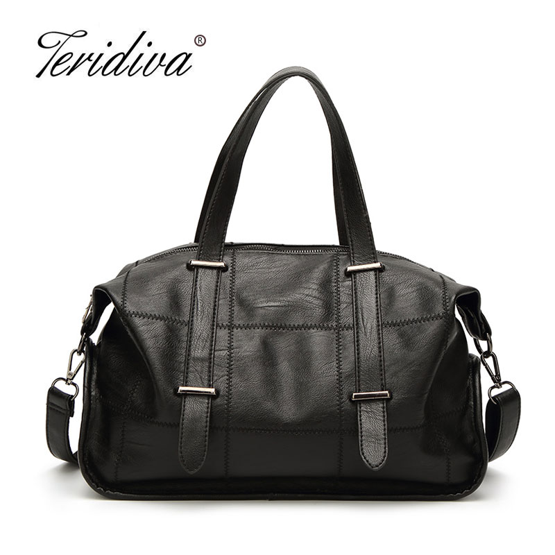 Teridiva Brand Luxury High Quality Hobos Women Bags Handbags Soft Leather Designer Ladies Shoulder Messenger Bag Casual Tote Bag