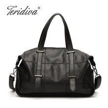 Teridiva Marke Luxus Qualität Hobos Frauen Taschen Handtaschen Weichem Leder Designer Damen Schulter Umhängetasche Lässig Einkaufstasche