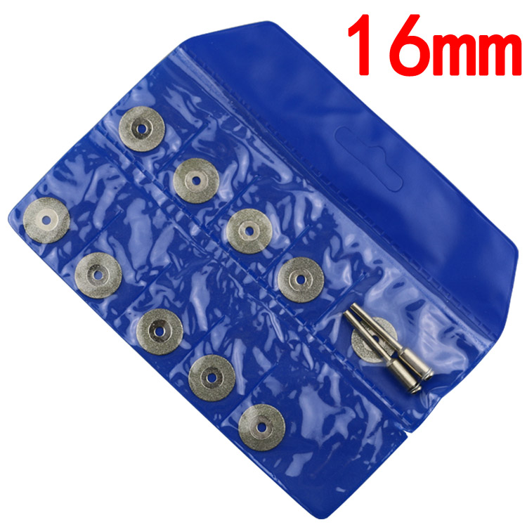 Mini disque de coupe pour scie circulaire dremel, accessoires pour meule diamantée, 16mm, disque de coupe dremel, disque rotatif diamant