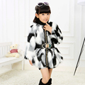 New autumn winter children girl cute warm faux Fox coat raccoon rabbit faux fur coat jacket clothing outerwear coats overcoat