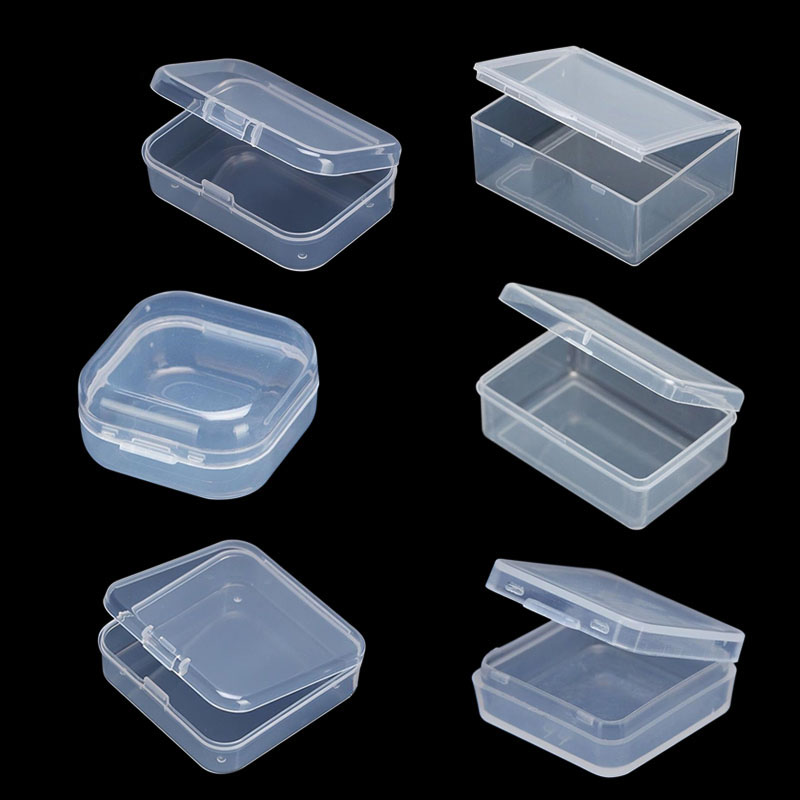 Box Case Packaging-Box Collections-Item Plastic-Box-Storage Small-Tools Clear Transparent