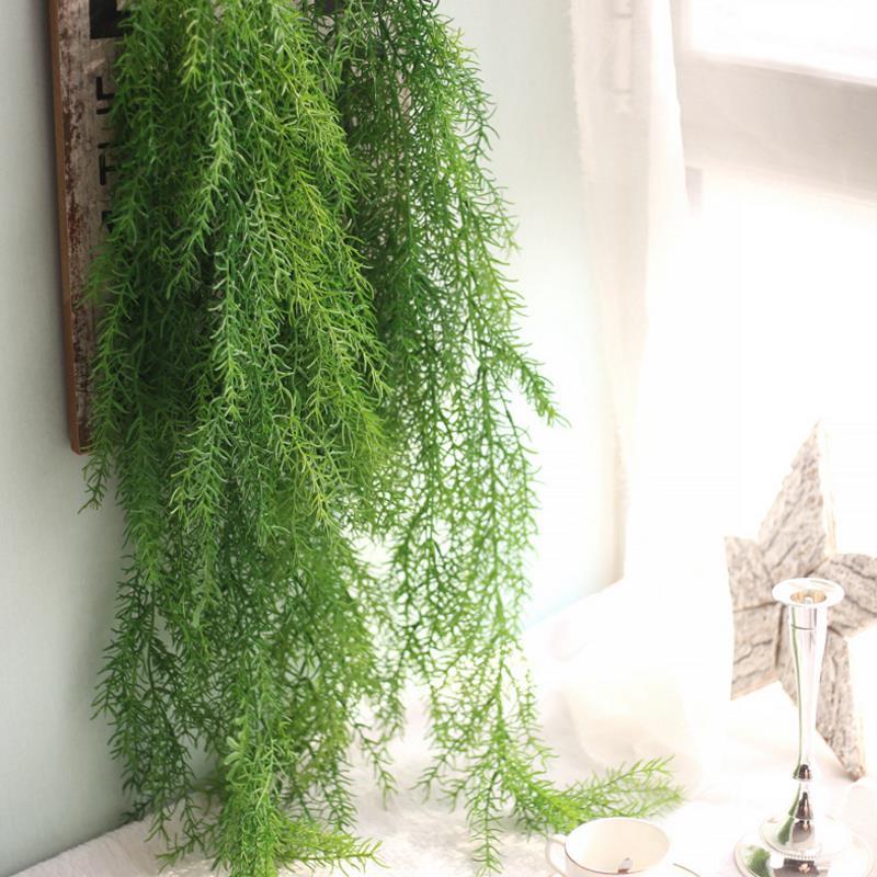 Artificial Plants Long Pine Needles Soft Imitation Vine Rattan Home Decorative Plant Wall Decoration