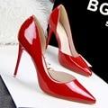 De dos piezas de Punta estrecha Suede Red Bottom Tacones Altos de La Moda Sexy Zapatos de Tacón Alto de Las Mujeres Bombea Los Zapatos de Boda Bombas 6 Colores