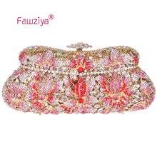 Fawziya Floral Perlen Geldbörse Blume Kupplung Geldbörse Bling Kristall Clutch Abendtasche