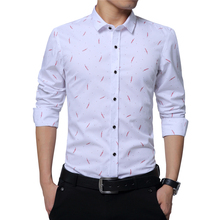 New 2016 Brand Men Shirt Slim Fit Casual Shirts Men Fashion Polka Dot Print Luxury Dress Shirts Camisa Masculina