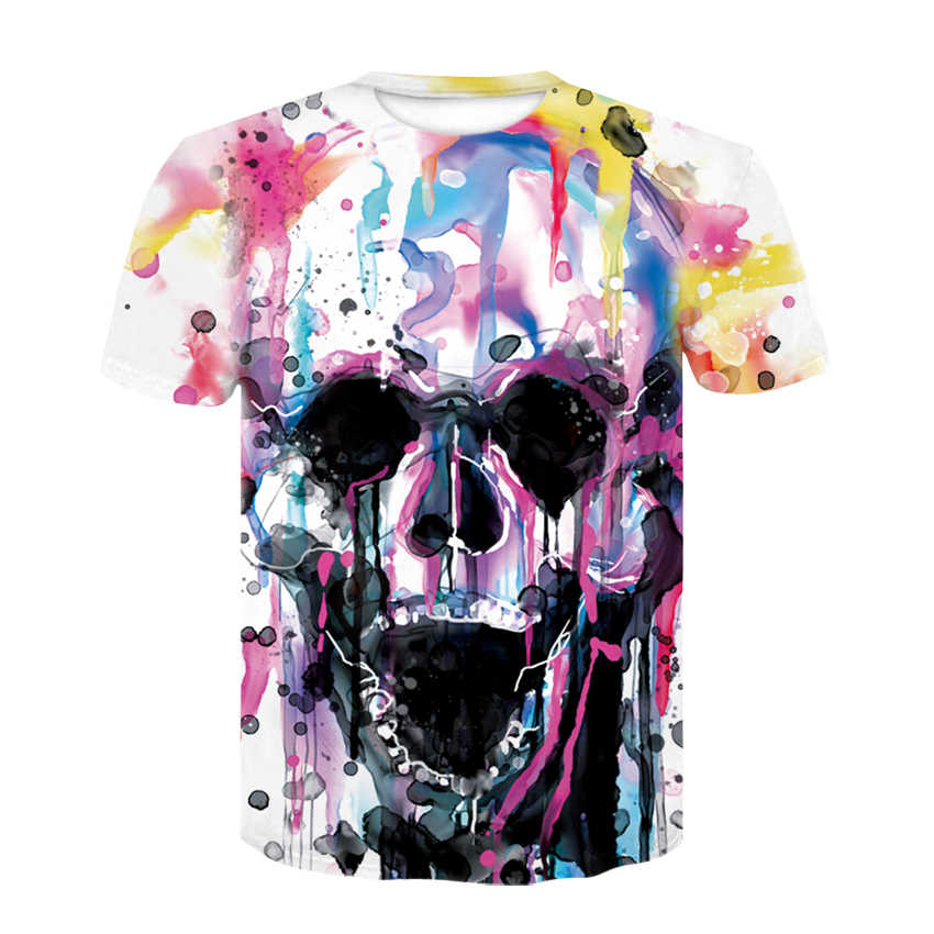 2c3d6bb260c Womens Brand Clothing 2018 Summer T Shirt Women Casual Funny skull graffiti Tops  Tees Short Sleeve