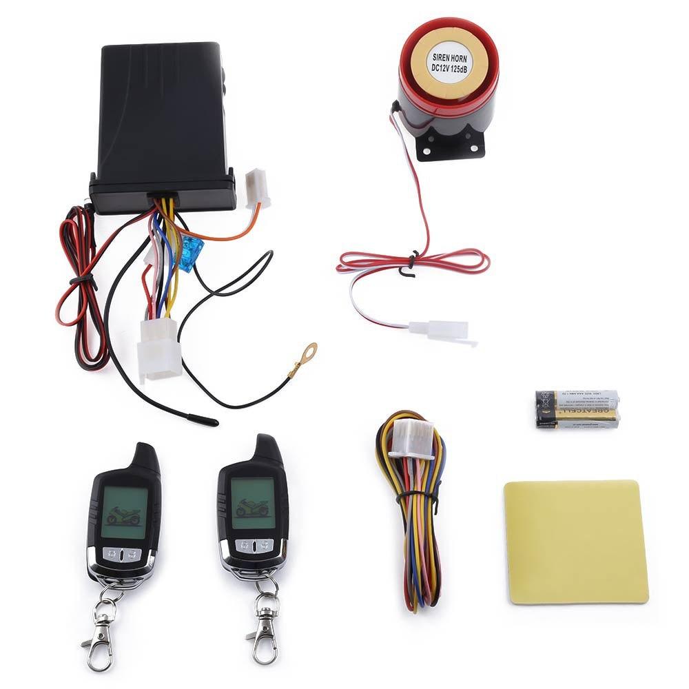 imágenes para NT-MS002 LCD Motocicleta antirrobo Sistema de Alarma de Seguridad Universal Resistencia de Dos Vías con Principal Motor A Prueba de Agua