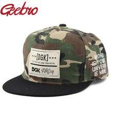 Moda dgk camuflagem casual bonés de beisebol masculino hip hop skate boné osso aba snapback chapéus de sol goraas casquette para mulher js060