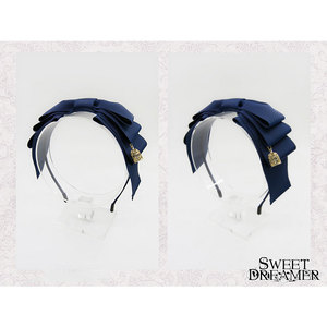 Image 3 - Sweet Layered Bow Lolita Hairband Ribbon Headpiece With Cage Pendant by SweetDreamer