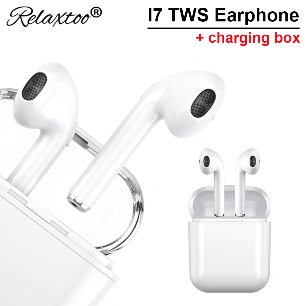i7 s tws Mini wireless headset +Charging box sport earphone with mic In Ear Earbuds For iPhone Samsung mp3 bluetooth headphones