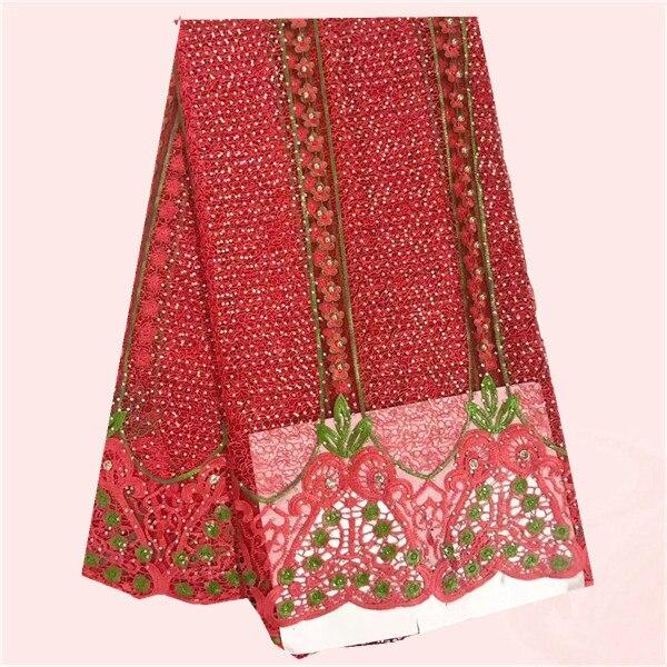 Noble patroon Franse netto kant stof voor jurk kralen nieuwe stijl afrikaanse organza kant doek voor vrouwen jurk! JNZ137 (5 meter/stuk)