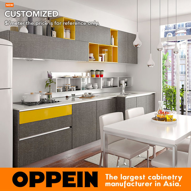 10 Square Meters Straight Line Modern Style Kitchenette Kitchen Cabinet Op16 M06