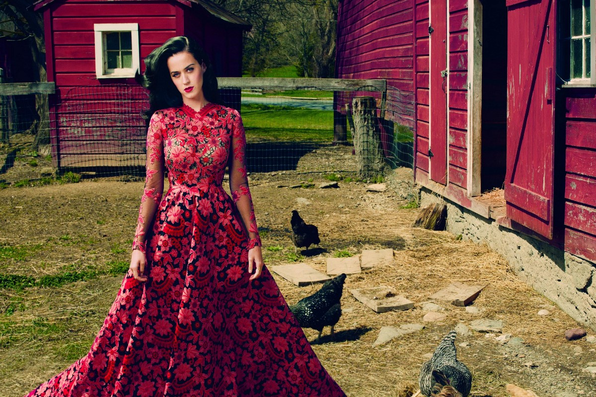 Living room home wall modern art decor poster katy perry in beautiful red address wood house