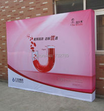 3*4units Aluminum Exhibition Backdrop Velcro Fabric Pop up Display Banner Stand for Advertising Trade Show without Banner