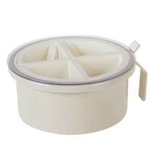 Multi-grid Spice Round Seasoning Box Salt Pepper Dispenser Storage Rack Pots Container Kitchen Tool a715